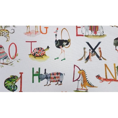 Curtain for children with alphabet