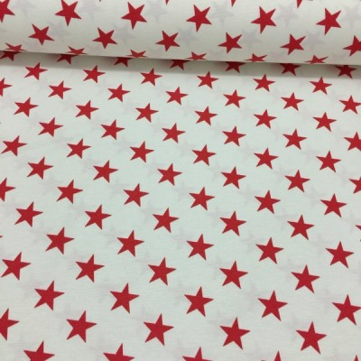 Christmas curtain with red stars