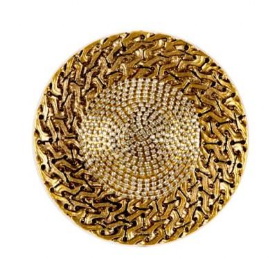 Златен държач за завеси с декоративни камъчета