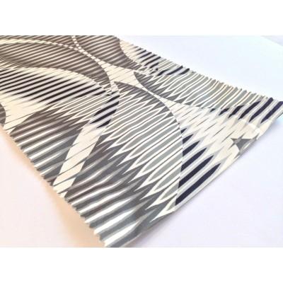 Негорим плат за плътни завеси с абстрактни шарки
