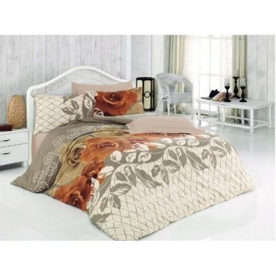 Единичен спален комплект ранфорс Рози