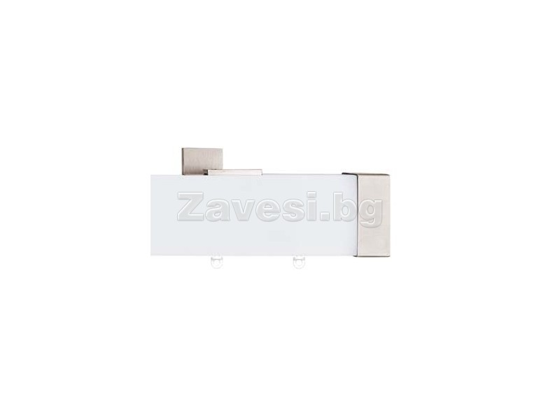 MDF Single Curtain Rod 244sm Capri White
