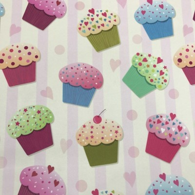 Curtain with digital stamp Cupcake
