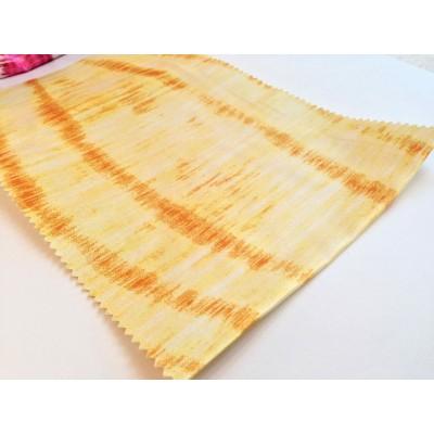 Негорим плат за плътни завеси с абстрактни шарки в жълто