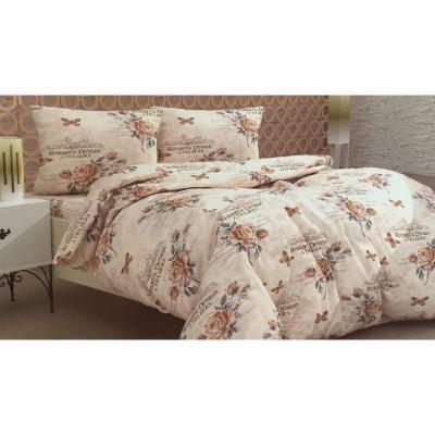 Единичен спален комплект ранфорс с винтидж десен
