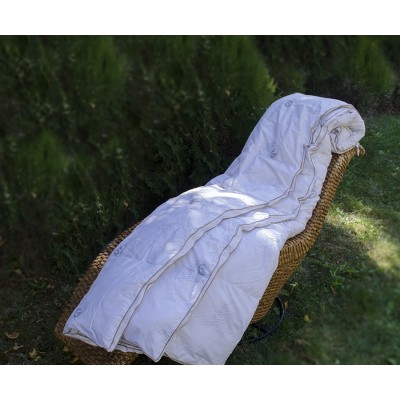 Олекотена завивка 200/230 с 3000гр. гъши пух 100% памук