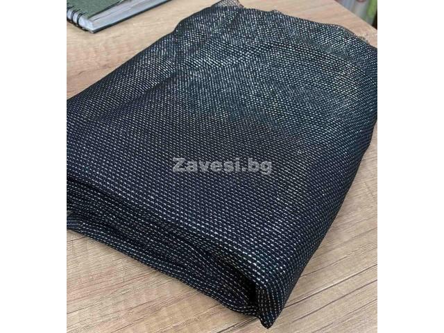 Намалено парче плат в черно със сребристи нишки 0,50см/3,00м