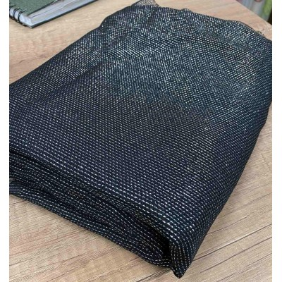 Piece fabric in black with silver threads 0,50cm/3,00m