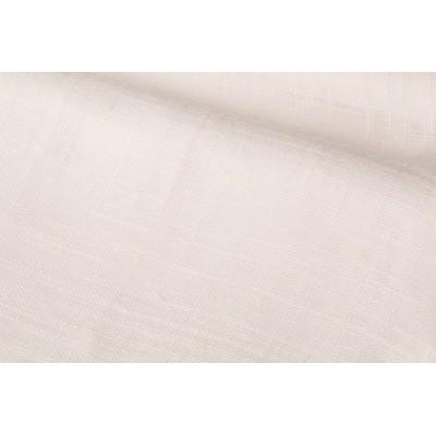 Плат за тънко перде натурален лен в бяло