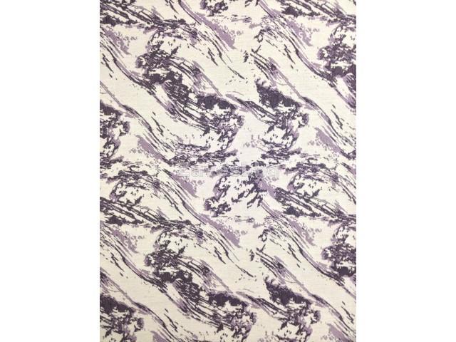 Плат за плътна завеса с лилави шарки