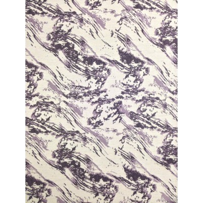 Curtain with purple patterns