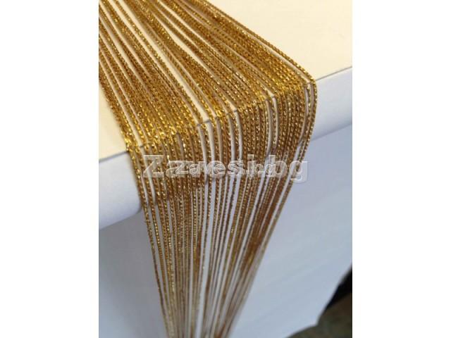 Ресни в златно с брокат (ламе) ширина 2м височина 2,50м
