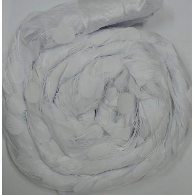 Ресни 3 метра в бял цвят с кръгове