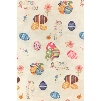 Easter fabric for curtains and tablecloths with eggs