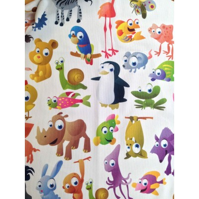 Curtain with digital stamp Animals