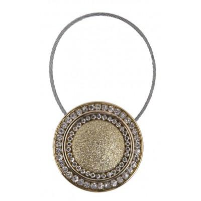 Кръгла магнитна щипка за пердета и завеси с декорация