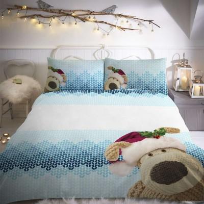 Коледен детски спален комплект Плетено еленче