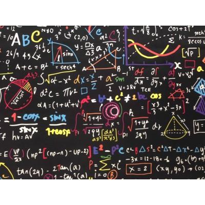 Плат за плътна детска завеса с дигитален печат Математика