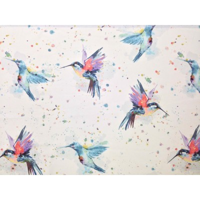 Curtain and upholstery with digital print Hummingbirds