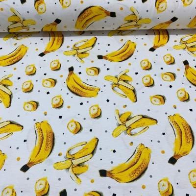 Плат за плътна завеса и дамаска с банани