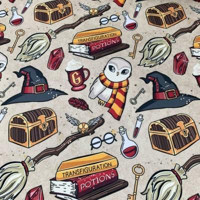 Плат за плътна детска завеса и дамаска Хари Потър