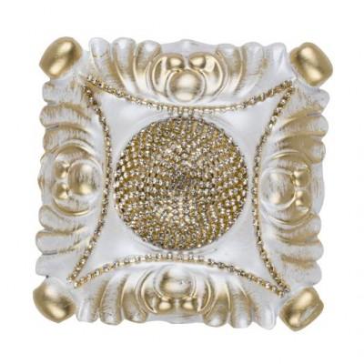 Декоративен квадратен държач за завеси в сребристо