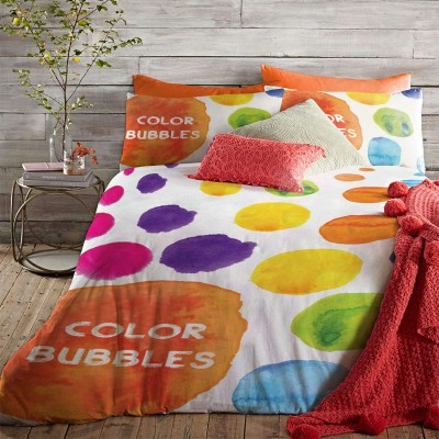 Double bedding set colored bubbles