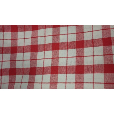 Piece fabric for tablecloths in red 140/250