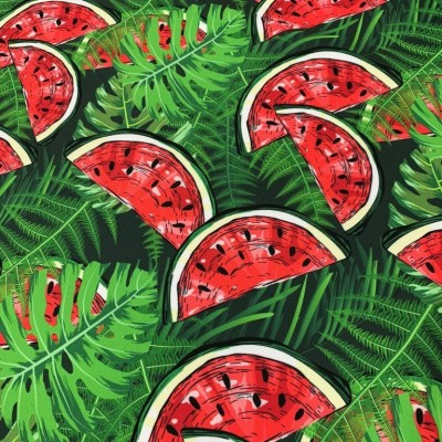 Curtain and upholstery with digital print Watermelon