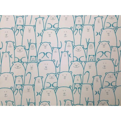 Tefloned fabric with Bears