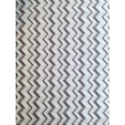 Curtain with zig-zag in beige and grey