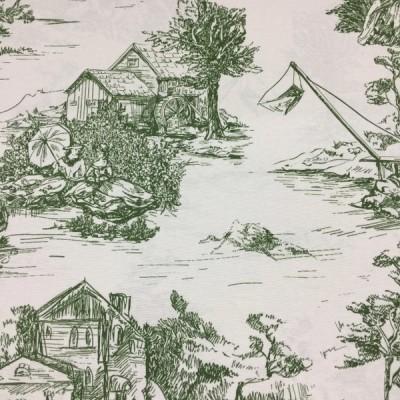 Плат за плътна завеса и дамаска в зелено Спомен