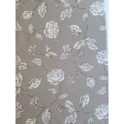 Curtain with roses on beige background