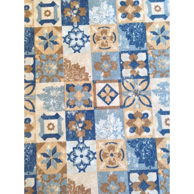 Curtain with spanish tiles