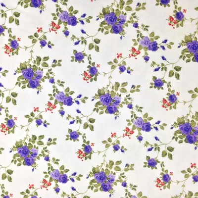 Curtain with roses in purple