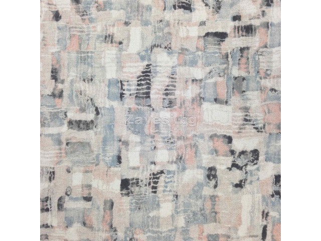 Плат за плътна завеса с модерен десен в пастелни цветове
