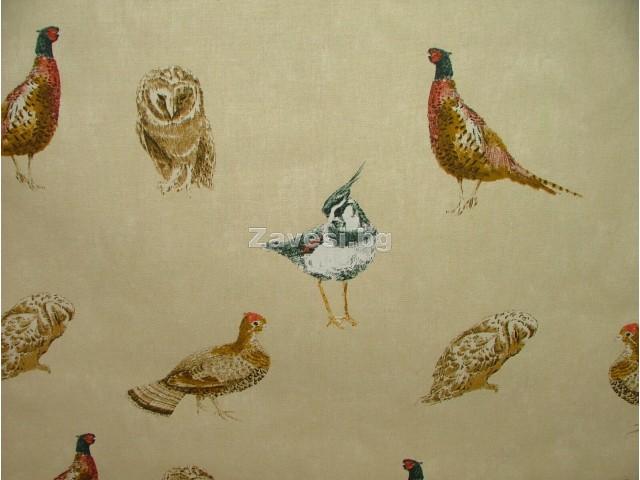 Плат за плътна завеса с диви птици