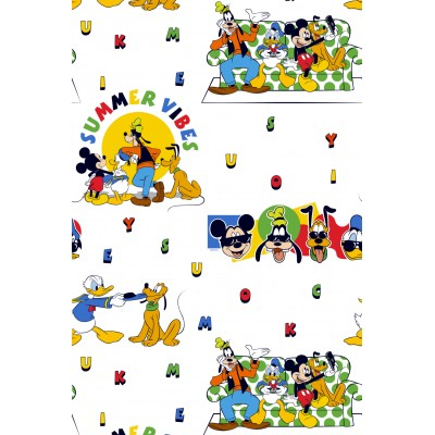 Curtain for children with original Disney design Mickey Mouse