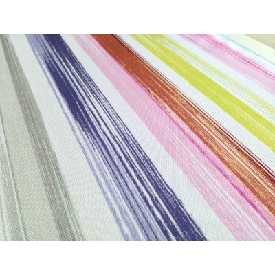 Curtain with colorful stripes