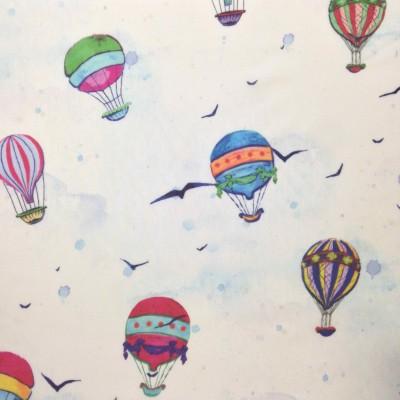 Плат за тънко детско перде с балони