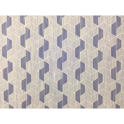 Плат за плътна завеса с геометрични форми в тъмно синьо