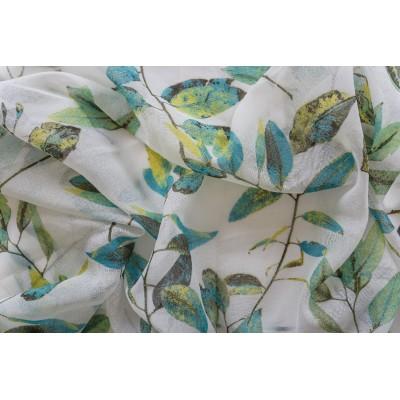 Плат за тънко перде със зелени листа