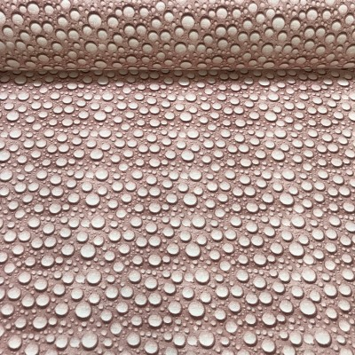Curtain and upholstery with drops