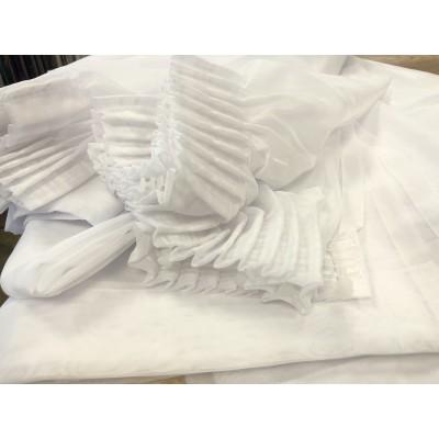 Ушити пердета от бял воал с размер 3м ширина и 2,40м височина