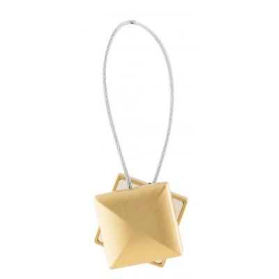 Магнитна щипка за пердета и завеси с квадратна форма в матово златисто