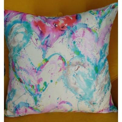 Decorative pillow case Hearts 43/43