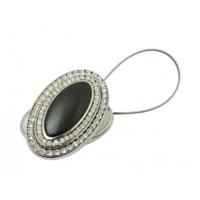 Магнитна щипка за пердета и завеси с кожа и декорация от камъчета