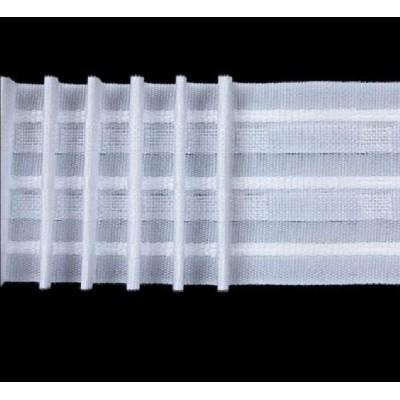 Лента перделък за пердета и завеси 65мм набор х 2,5 плътна
