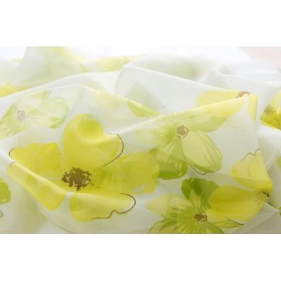 Плат за тънко детско перде на цветя