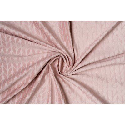 Plush curtain with design in pink